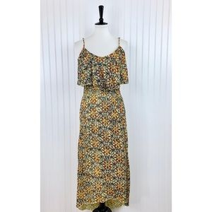 Mimi Chica • Yellow Floral Maxi Dress • S [R4]